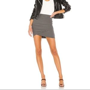 James Perse Wrap Mini Skirt in Grey
